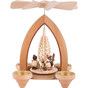 Christmas-Pyramids 1-tier Pyramids 1-Tier Pyramid - Christmas Motive - Natural - 26 cm / 10.2 inch