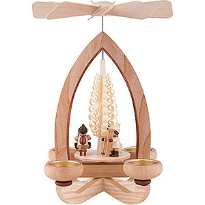 Christmas-Pyramids 1-tier Pyramids 1-Tier Pyramid - Christmas Motive - Natural - 28 cm / 11 inch