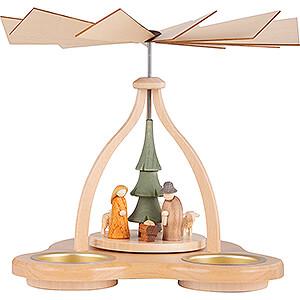 Christmas-Pyramids 1-tier Pyramids 1-Tier Pyramid - Crib - 14 cm / 5.5 inch