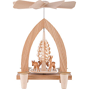 Christmas-Pyramids 1-tier Pyramids 1-Tier Pyramid - Deer - Natural - 26 cm / 10.2 inch