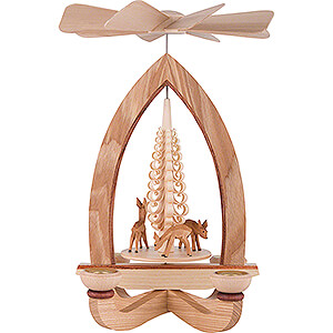 Christmas-Pyramids 1-tier Pyramids 1-Tier Pyramid - Deer - Natural - 28 cm / 11 inch