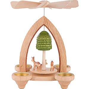 Christmas-Pyramids 1-tier Pyramids 1-Tier Pyramid - Fawns - Natural - 26 cm / 10.2 inch