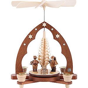 Christmas-Pyramids 1-tier Pyramids 1-Tier Pyramid - Forest People - 28 cm / 11 inch
