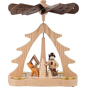 Christmas-Pyramids 1-tier Pyramids 1-Tier Pyramid - Forester - 22 cm / 9 inch