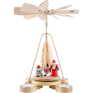 Christmas-Pyramids 1-tier Pyramids 1-Tier Pyramid - Gift Giving - 25 cm / 9.8 inch
