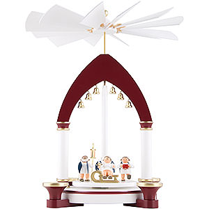 Christmas-Pyramids 1-tier Pyramids 1-Tier Pyramid - Heavenly Gift Giving - 30 cm / 11.8 inch