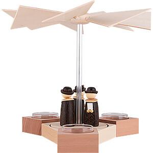 Christmas-Pyramids 1-tier Pyramids 1-Tier Pyramid Hexagonum Carolers - 20 cm / 7.9 inch
