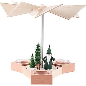 Christmas-Pyramids 1-tier Pyramids 1-Tier Pyramid - Hexagonum Hunter Gnome - 20 cm / 7.9 inch