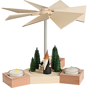 Christmas-Pyramids 1-tier Pyramids 1-Tier Pyramid - Hexagonum Mountain Gnome  - 20 cm / 7.9 inch