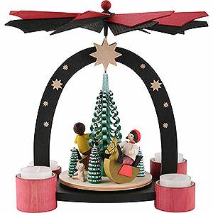 Christmas-Pyramids 1-tier Pyramids 1-Tier Pyramid - Horsemen - 26 cm / 10.2 inch