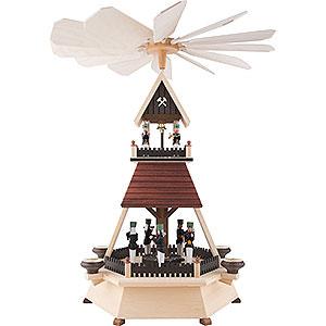 Christmas-Pyramids 1-tier Pyramids 1-Tier Pyramid - Miners - 54 cm / 21 inch