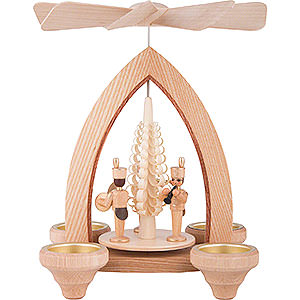 Christmas-Pyramids 1-tier Pyramids 1-Tier Pyramid - Miners - Natural - 26 cm / 10.2 inch