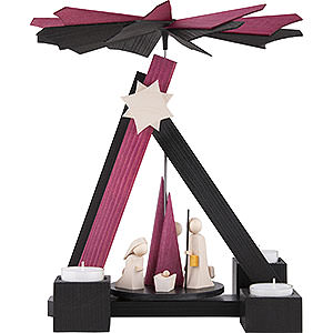 Christmas-Pyramids 1-tier Pyramids 1-Tier Pyramid - Modern Nativity - 30 cm / 12 inch