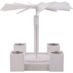 Christmas-Pyramids 1-tier Pyramids 1-Tier Pyramid - Modern Whitel Oak Blank - 24 cm / 10 inch