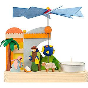 Christmas-Pyramids 1-tier Pyramids 1-Tier Pyramid - Nativity - 12 cm / 4.7 inch