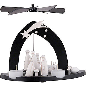 Christmas-Pyramids 1-tier Pyramids 1-Tier Pyramid Nativity - Black - 23 cm / 9.1 inch