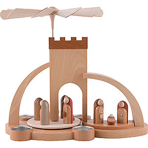 Christmas-Pyramids 1-tier Pyramids 1-Tier Pyramid - Nativity - Modern - 33 cm / 13 inch