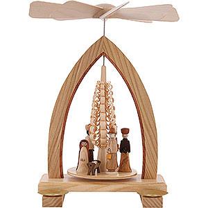 Christmas-Pyramids 1-tier Pyramids 1-Tier Pyramid - Nativity Scene - 25 cm / 10 inch