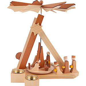 Christmas-Pyramids 1-tier Pyramids 1-Tier Pyramid - Nativity Story - natural - 30 cm / 11.8 inch