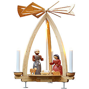 Christmas-Pyramids 1-tier Pyramids 1-Tier Pyramid - Nativity for Outdoor Use - 300 cm / 118 inch
