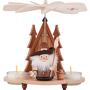 Christmas-Pyramids 1-tier Pyramids 1-Tier Pyramid - Nightwatchman Natural - 19,5 cm / 8 inch
