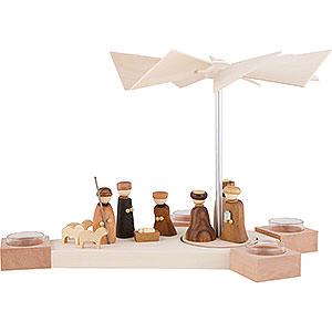 Christmas-Pyramids 1-tier Pyramids 1-Tier Pyramid Octogonum - Nativity - 23 cm / 9.1 inch