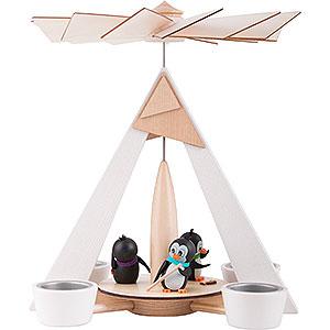 Christmas-Pyramids 1-tier Pyramids 1-Tier Pyramid - Penguins White - 29 cm / 11.2 inch