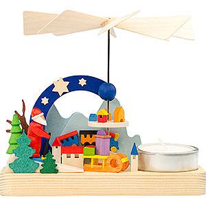 Christmas-Pyramids 1-tier Pyramids 1-Tier Pyramid - Santa Claus - 12 cm / 4.7 inch