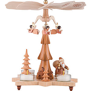 Christmas-Pyramids 1-tier Pyramids 1-Tier Pyramid - Santa Claus Natural - 27 cm / 11 inch