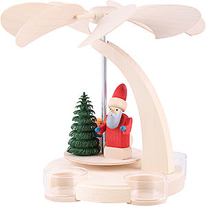 Christmas-Pyramids 1-tier Pyramids 1-Tier Pyramid - Santa with Sled - 18 cm / 7 inch