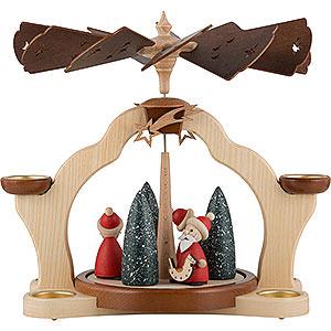 Christmas-Pyramids 1-tier Pyramids 1-Tier Pyramid - Santas - 31 cm / 12 inch