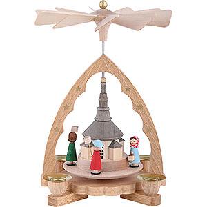 Christmas-Pyramids 1-tier Pyramids 1-Tier Pyramid - Seiffen Church - 19 cm / 7 inch