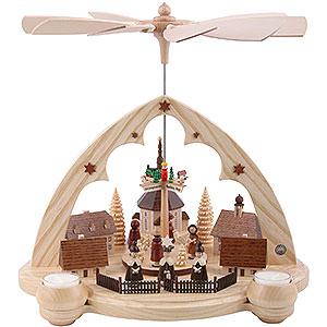 Christmas-Pyramids 1-tier Pyramids 1-Tier Pyramid - Seiffener Village Lancet Arch - 36 cm / 14 inch