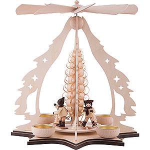 Christmas-Pyramids 1-tier Pyramids 1-Tier Pyramid - Skier - 37 cm / 14.5 inch