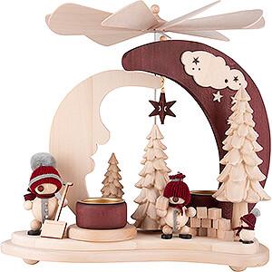 Christmas-Pyramids 1-tier Pyramids 1-Tier Pyramid - Snowballs red - 27 cm / 10.6 inch