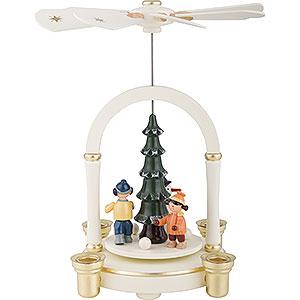 Christmas-Pyramids 1-tier Pyramids 1-Tier Pyramid - Snowman - 23 cm / 9 inch
