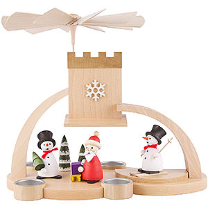 Christmas-Pyramids 1-tier Pyramids 1-Tier Pyramid - Snowman and Santa Claus - 29 cm / 11.4 inch