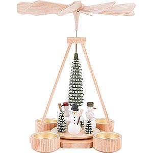 Christmas-Pyramids 1-tier Pyramids 1-Tier Pyramid - Snowmen - 25 cm / 9.8 inch