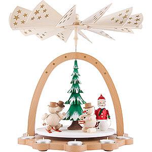 Christmas-Pyramids 1-tier Pyramids 1-Tier Pyramid - Snowmen - 40 cm / 15.7 inch