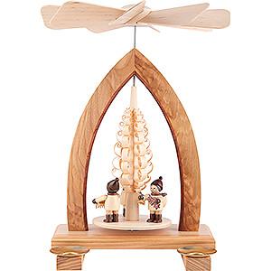 Christmas-Pyramids 1-tier Pyramids 1-Tier Pyramid - Striezel Children - Natural - 26 cm / 10.2 inch