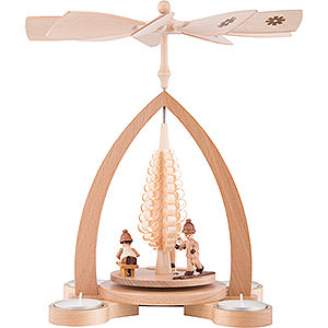 Christmas-Pyramids 1-tier Pyramids 1-Tier Pyramid - Winter Children - 28 cm / 11 inch