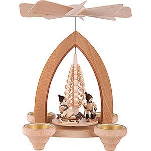 Christmas-Pyramids 1-tier Pyramids 1-Tier Pyramid - Winter Children - Natural - 26 cm / 10.2 inch