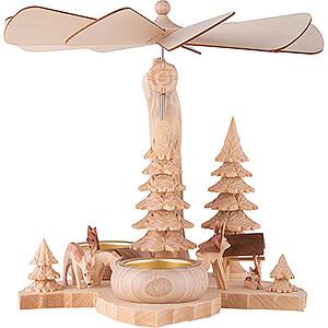 Christmas-Pyramids 1-tier Pyramids 1-Tier Pyramid on Leaf - Deer - 21 cm / 8.3 inch