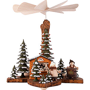 Christmas-Pyramids 1-tier Pyramids 1-Tier Pyramid on Leaf - Walkis in the Winter Forest - 21 cm / 8.3 inch