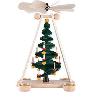 Christmas-Pyramids 1-tier Pyramids 1-Tier Pyramid with Level Christmas Tree - 40 cm / 15.7 inch