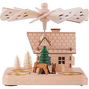 Christmas-Pyramids 1-tier Pyramids 1-Tier Smoking Pyramid Deer - 15 cm / 5.9 inch