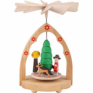 Christmas-Pyramids All Pyramids 1-Tier Thermic Pyramid Family - 10 cm / 4 inch