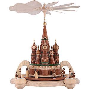 Weihnachtspyramiden 1-stöckige Pyramiden 1-stöckige Pyramide Basilius-Kathedrale in Moskau - 40 cm