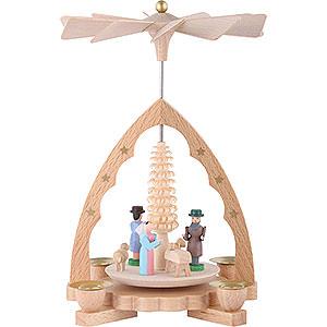 Weihnachtspyramiden 1-stöckige Pyramiden 1-stöckige Pyramide Christi Geburt - 19 cm