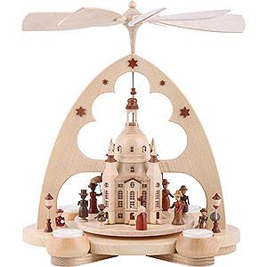 Weihnachtspyramiden 1-stöckige Pyramiden 1-stöckige Pyramide Frauenkirche - 34 cm